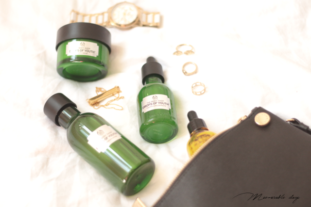 Start the Aging Care Now. The Body Shop Drops of Youth Collection