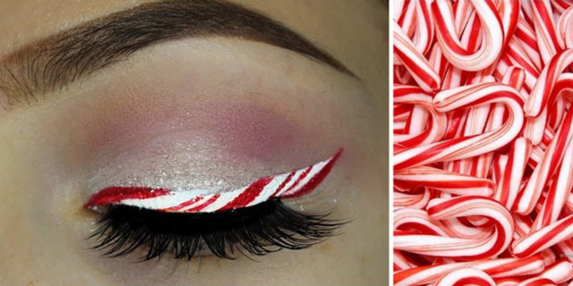 Christmas Makeup Trend! Candy Cane Eyeliner Ideas and Tutorials