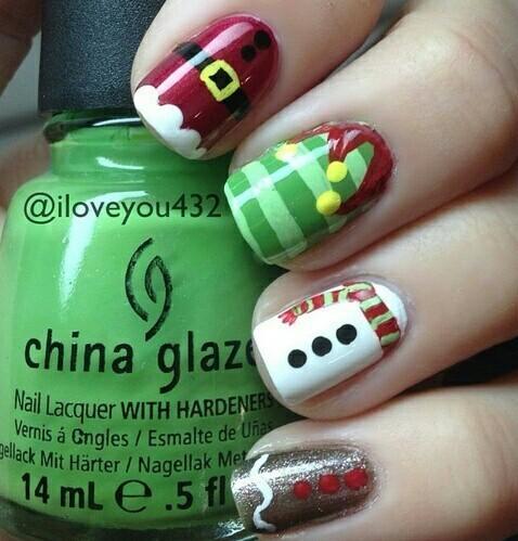 Easy Cute Christmas Nail Ideas and Tutorials!