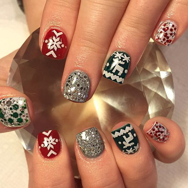 Ugly Christmas Sweater Inspired Nail Art Designs and Tutorials!