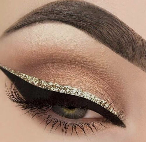 Add some glitter on your eyes! Best Glitter Eyeliner 2016!