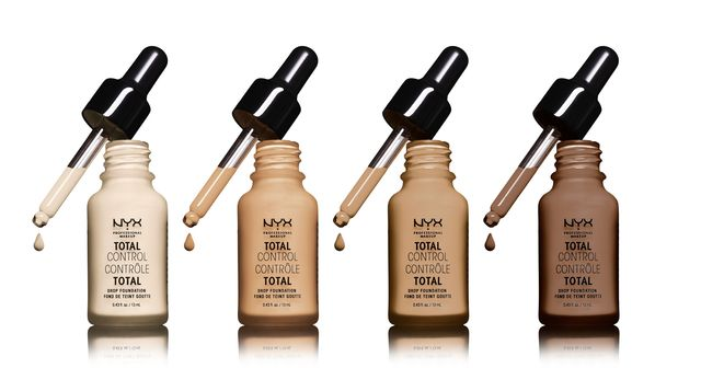 NYX Total Control Drop Foundation. Swatches and Tutorial. The best affordable liquid foundation