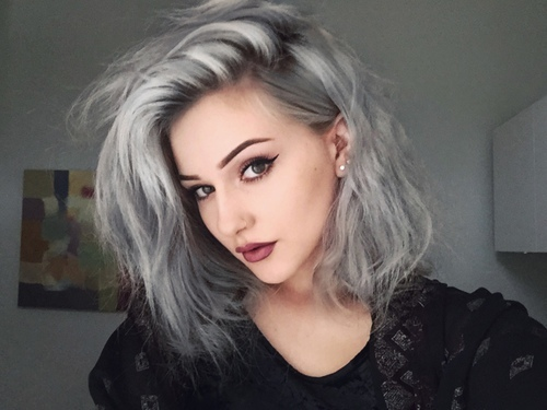 ☆Shiny Silver and Gray Hair Color Ideas for 2017☆