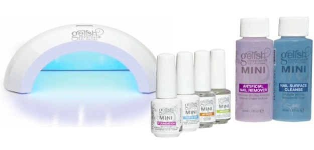 Best 4 at home gel nail kit for you to do gel nail by yourself two gelish colors led light basix kit step by step instructions last for up to three weeks solutioingenieria Images