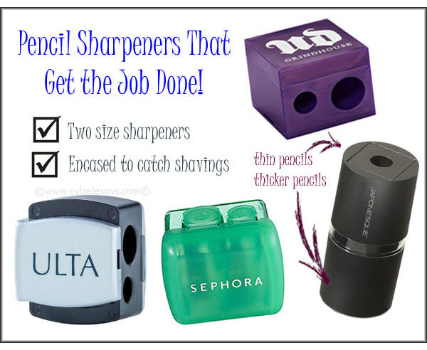 Our recommended 5 Sharpeners Won't Destroy Your Makeup Pencils!!