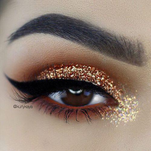 🔥Winged Liner & Glitter Eyes🔥  by Lane | We Heart It (2673)