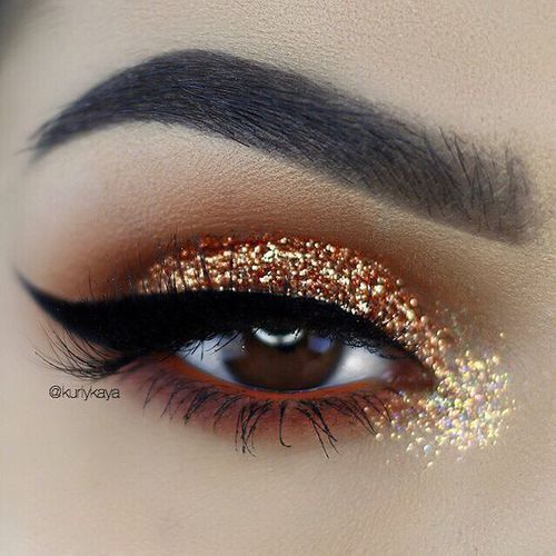 🔥Winged Liner & Glitter Eyes🔥  by Lane | We Heart It (2673)