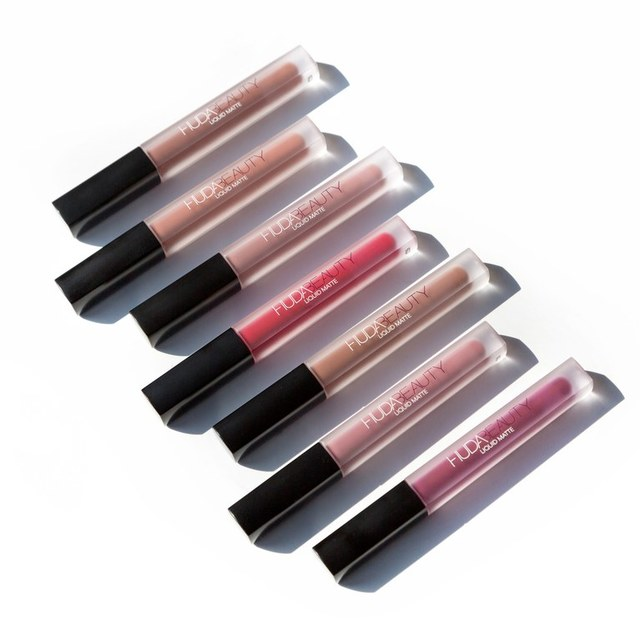 Huda Beauty Liquid Lipsticks Swatches | Allure (5578)