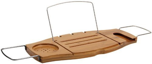 Amazon.com: Umbra Aquala Bamboo Bathtub Caddy, Natural: Home & Kitchen (8748)
