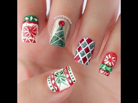 30 Christmas Nail Art Designs and Ideas |Top Nail Art Designs Nail Art Designs 2016 - YouTube (9042)