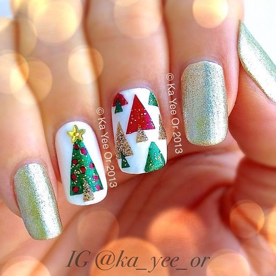 ☆fantastic Christmas Nail Art Designs For 2016☆ Reindeer Snow Christmas Tree Santa Claus