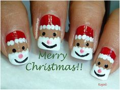 another santa claus mani.  credit:  blabplus.com. | nail designs | Pinterest (9060)