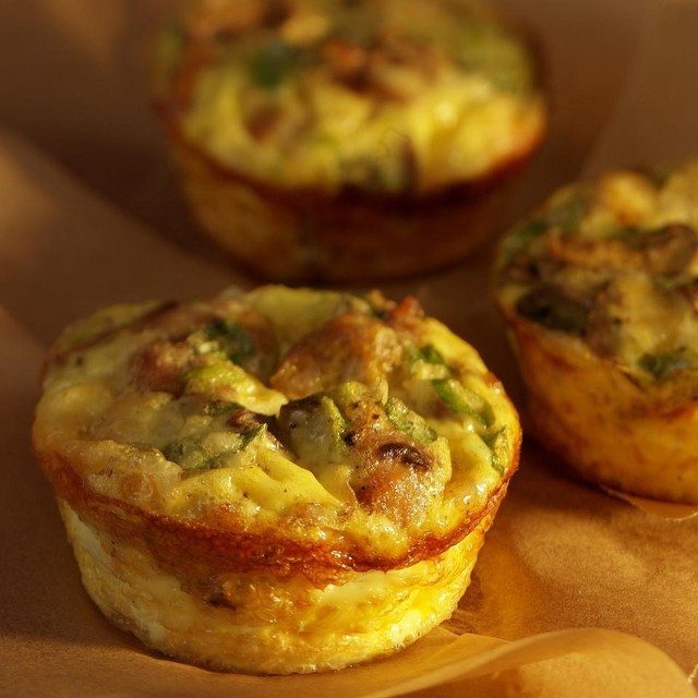 Mini Mushroom-&-Sausage Quiches Recipe - EatingWell.com (10470)