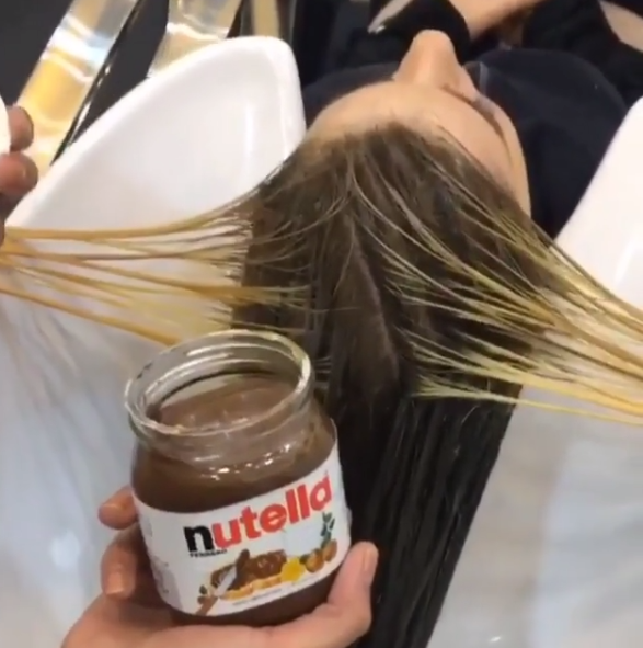 Incredible!! Hair Salon is using Nutella to Dye Hair!!