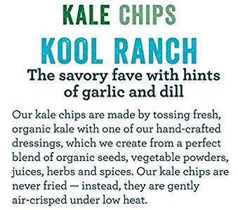 Amazon.com: Rhythm Superfoods Kale Chips, Kool Ranch, 2 Ounce, 4 Count (13880)
