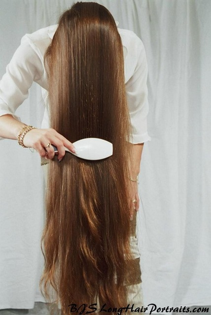 What do you take care of keeping beautiful your long hair?