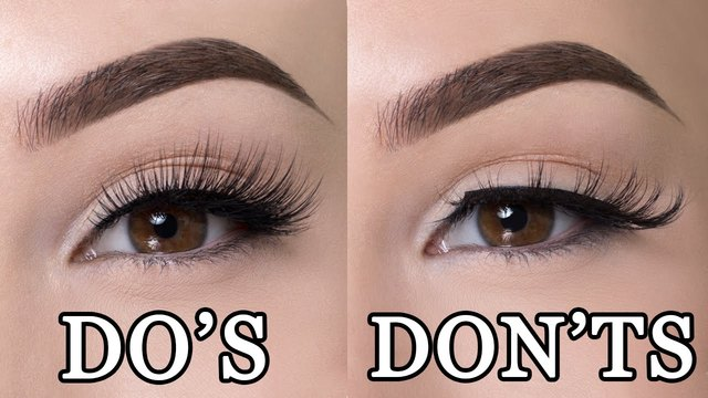 BEST TUTORIAL YOU TUBE : HOW TO APPLY FALSE EYELASHES